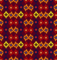 Tribal seamless pattern of rhombuses vector image vector image