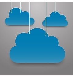 White clouds on a thread on background vector image
