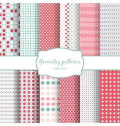 Abstract geometric seamless patterns set vector image vector image