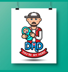 Fathers day icons 24 vector
