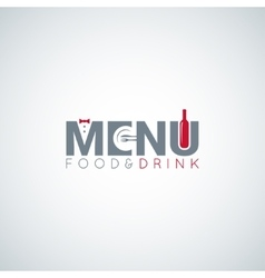 food and drink menu wine plate background vector image vector image