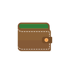 purse flat icon business financial vector image