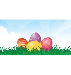 set of egg vector image vector image
