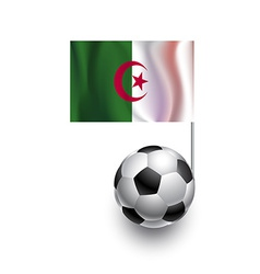 Soccer Balls or Footballs with flag of Algeria vector image vector image