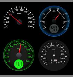 speedometers sport black scales vector image