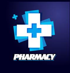 template design logo medical vector image