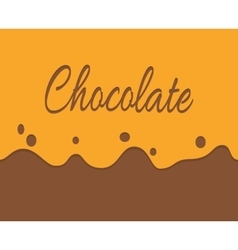 trickling milk chocolate and label vector image vector image