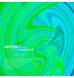 Abstract green and blue swirl vector image
