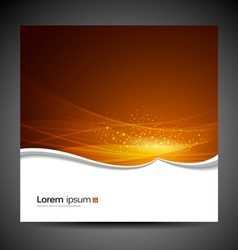 Banners modern wave orange background vector image vector image