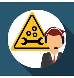 call center icon design vector image vector image