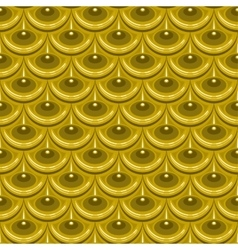 Seamless gold river fish scales vector image