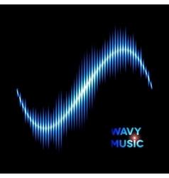 Wave shaped sound waveform vector image