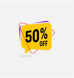 50 percent off sale discount banner vector image