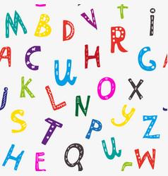Alphabet seamless pattern graphic vector