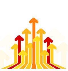 Arrows move to up concept financial rise bright vector