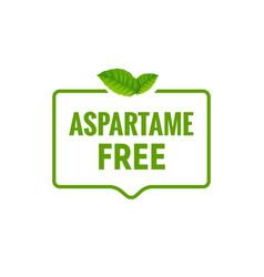 aspartame free artificial symbol icon health vector image
