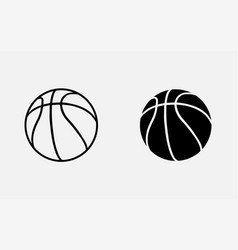 basketball icon on gray background vector image