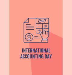 Best wishes for chartered accountant postcard vector