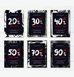 black friday vertical banners vector image