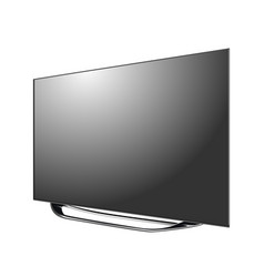 black led tv screen blank isolated on white vector image