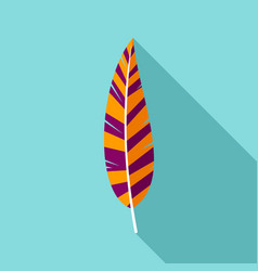 boho feather icon flat style vector image