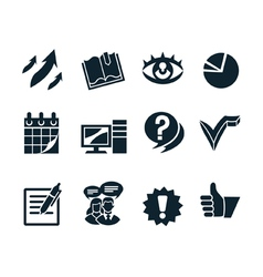 Business icon set v2 vector