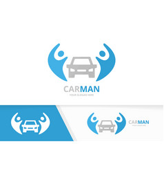 car and people logo combination vehicle vector image