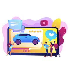 car review video concept vector image