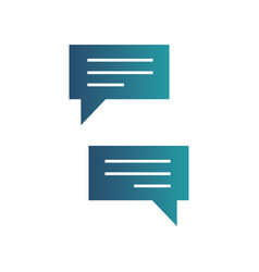 chatting icons messenger application text vector image