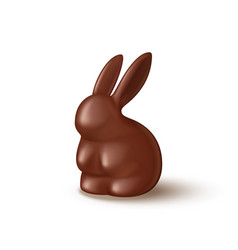 chocolate bunny isolated on white background vector image