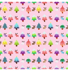 Christmas theme pinetree and reindeer sweety vector image
