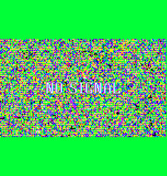 color pixel noise test tv screen digital vhs vector image