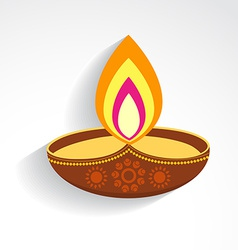colorful diwali diya vector image