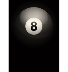 Dark Background of billiard ball vector