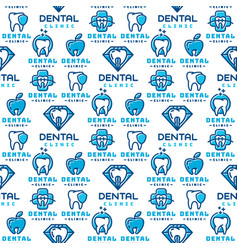 dental label protection template vector image