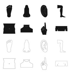 Design of human and part symbol collection vector
