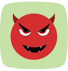 Devil emoji icon vector
