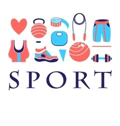 Different colored sports symbols vector
