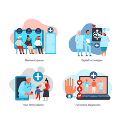 Digital medicine design concept vector