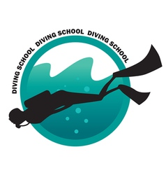 DIVING SCHOOL logo vector