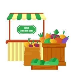 farm market with produce vector image