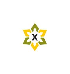 Flower infinity letter x vector