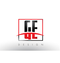 Ge g e logo letters with red and black colors and vector