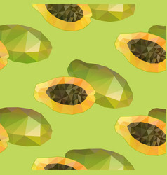 geometric polygonal exotic food seamless pattern vector image