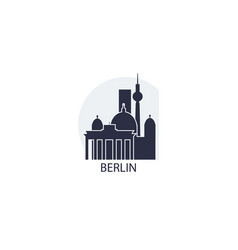 germany berlin skyline vector image