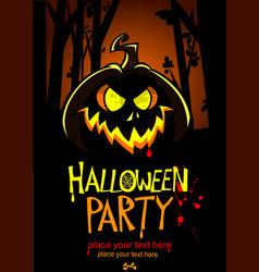 halloween design template pumpkin head and place vector image