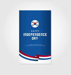Happy korea independence day template design vector