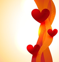 heart background with wave style vector image