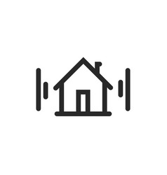 home icon symbol line outline art house vector image