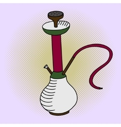 Hookah pop art vector